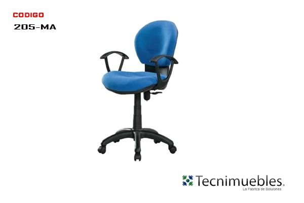 Silla Secretarial Reclinable Baja