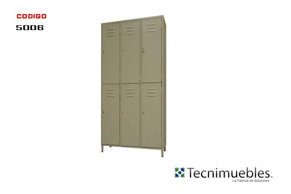 Lockers Metalicos 6 Compartimientos