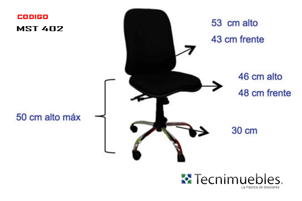 Silla Semi Ejecutiva Reclinable