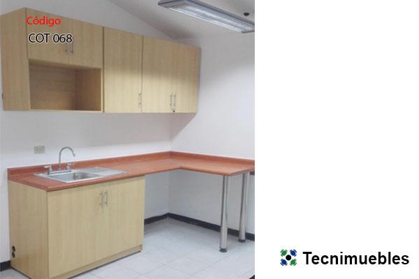 Mueble de cocina sencillo en L para área de empleados | Costa Rica ...