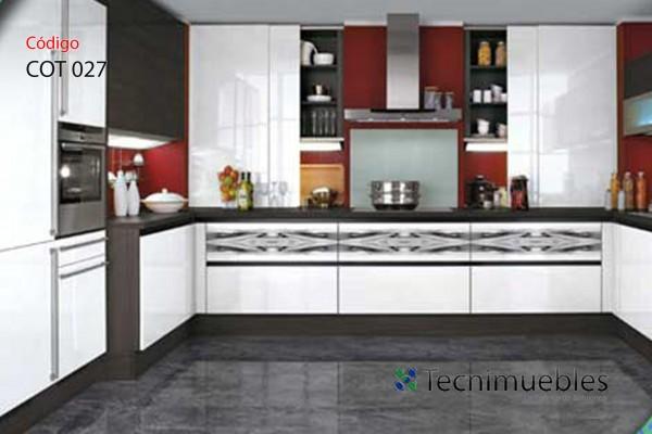 mueble de cocina en c con detalles modernos